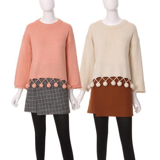 コインコーズグィヨムグィヨム滴ニットIK6WP627 ロングニット/ルーズフィット/セーター/韓国ファッション