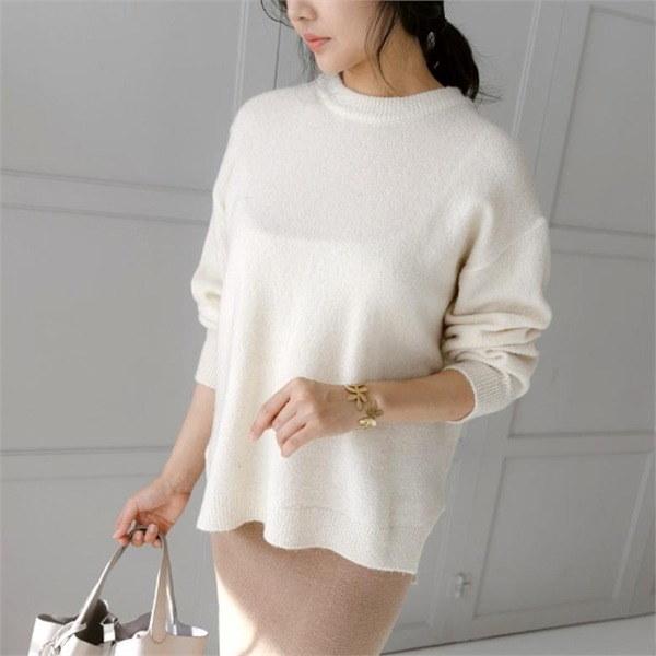 [アーバンフラン]シンプルラウンドニットnew 女性ニット/ラウンドニット/韓国ファッション