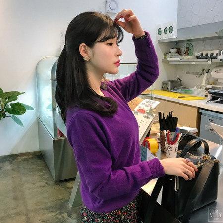 【Imvely]反転魅力アンゴラニットkorean fashion style