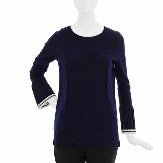 タプゴル・プリーツ小売配色ニットTHDASW901F ニット/セーター/韓国ファッション