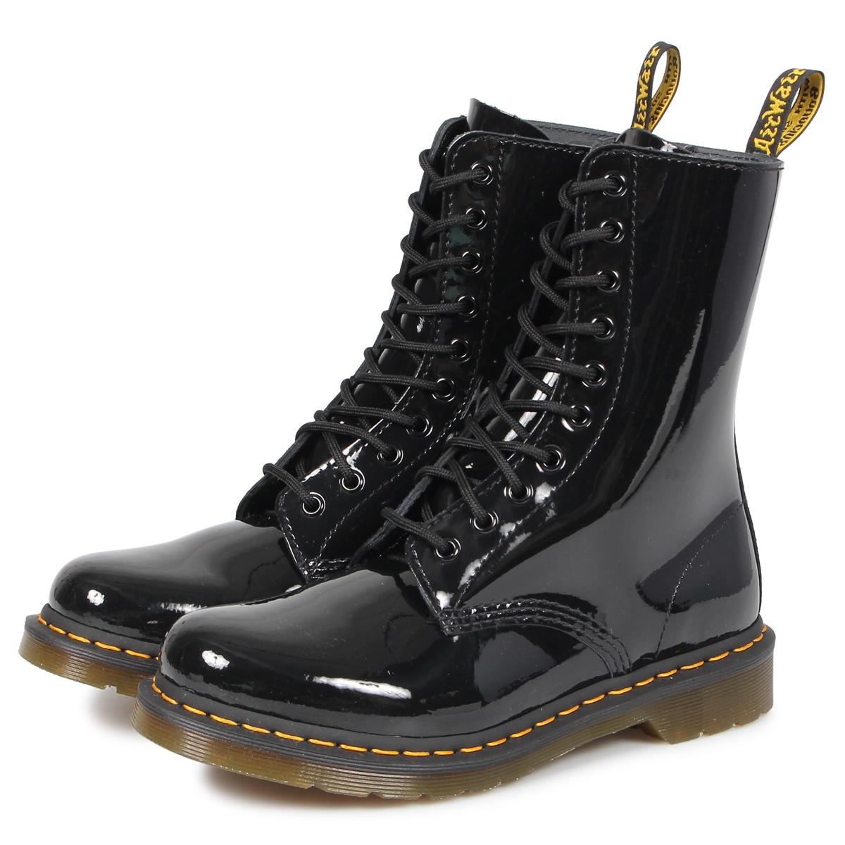 ドクターマーチン Dr. Martens 10ホール 1490 W ブーツ メンズ レディース PATENT LAMPER 10EYE BOOT ブラック 黒 R25277001