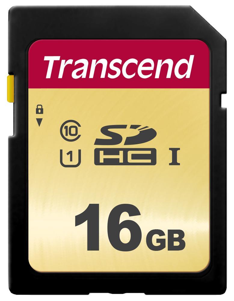 【正規国内販売代理店】トランセンド 16GB UHS-I U1 SDHCカード(MLC) TS16GSDC500S