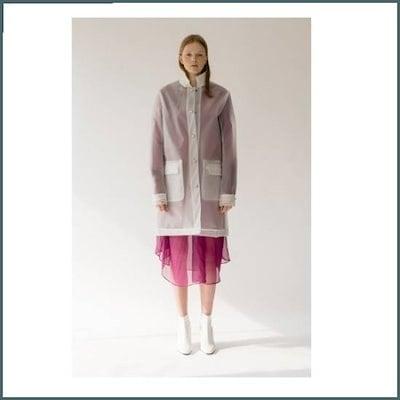 [亜美マーケット]PVC Plastic Rain Coat(RIGOON5) /ロングコート/コート/韓国ファッション