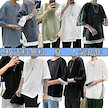 【2枚送料無料】韓国 ファッション メンズ 半袖 シャツ tシャツ 通気速乾 汗染み防止 薄手 ゆったり 柔らかい 通気性 重ね着風 かっこいい カジュアル シンプル オシャレ 大きいサイズ 夏服