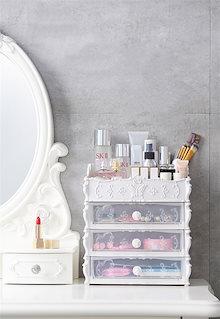 送料無料★化粧品 小物 収納ボックス オーガナイザー 引き出し付き 高品質  大容量