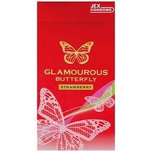 【送料無料】グラマラスバタフライ ストロベリー 《コンドーム スキン 避妊 安全》