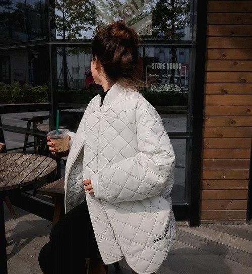 [55555SHOP]2017秋冬♪レディース♪トップス♪長袖♪原宿 カジュアル キルティング コート 全2色