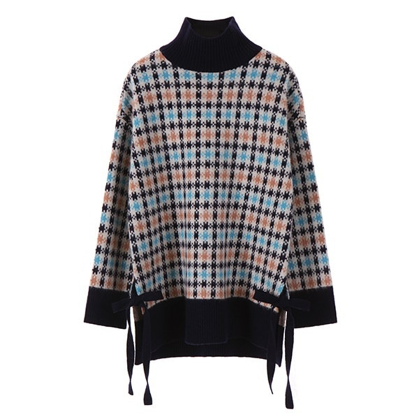 [韓国直送] 【オンエンオン] gingham check pola knit NK7WP484