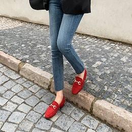 [SOVO]12colorゴールドチェーンデイリー女性ローファー(2cm)