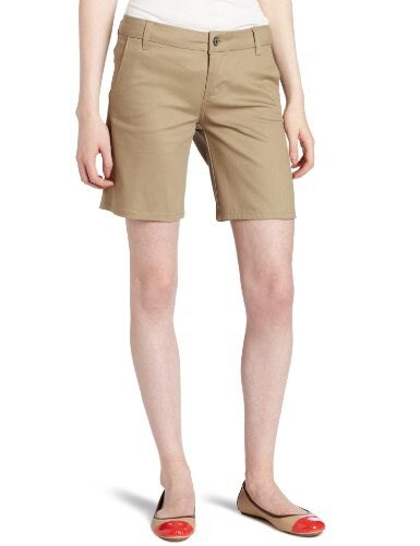 "Dickies Girl Juniors 8""  Inseam 4 Pocket Short,Khaki,5"