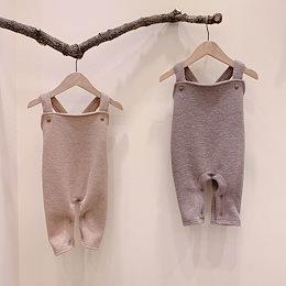春と秋の子供服、ベビー服、男の子と女の子の韓国のカジュアルジャンプスーツ、ロンパース