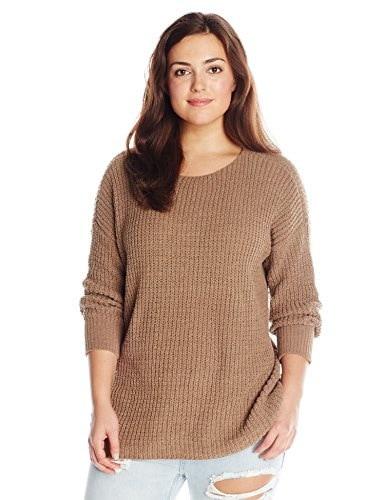 BB Dakota Womens Plus-Size Chealse Chunky Sweater, Camel, 3X
