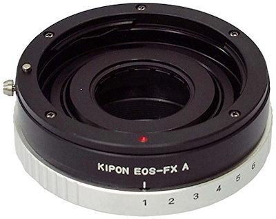 KIPON マウント変換アダプター EOS-FX-A キヤノンEFマウントレンズ - 富士フィルムXマウントボディ用 絞り羽根付き 013212 EOS-FX A