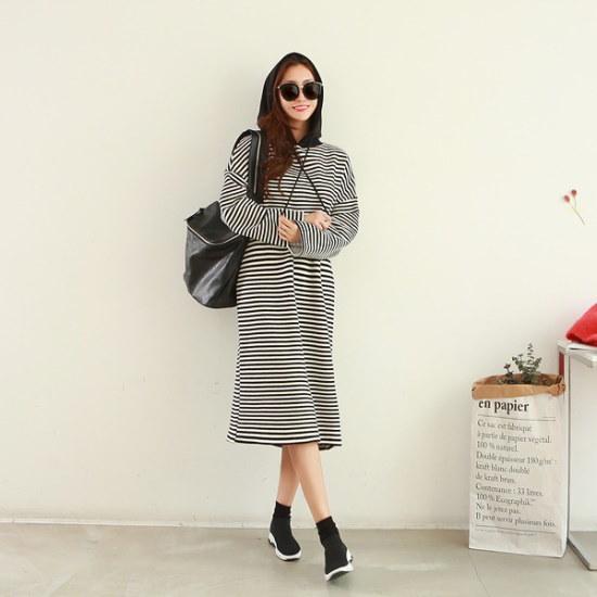 ピピンロアミロングワンピース35025 綿ワンピース/ 韓国ファッション