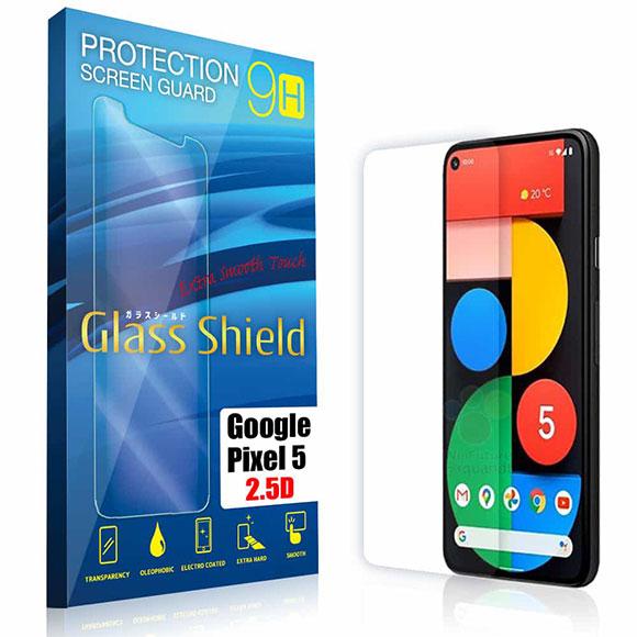 液晶保護フィルム Google Pixel5 2.5D 9H 指紋防止(全透明) ガラスフィルム 強化ガラス ピクセル ファイブ
