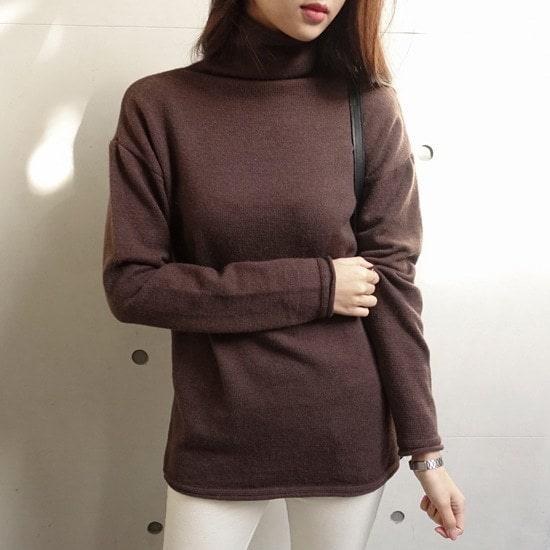 ミシャプローリング・ニットのポーラー・T3 color ニット/セーター/タートルネック/ポーラーニット/韓国ファッション