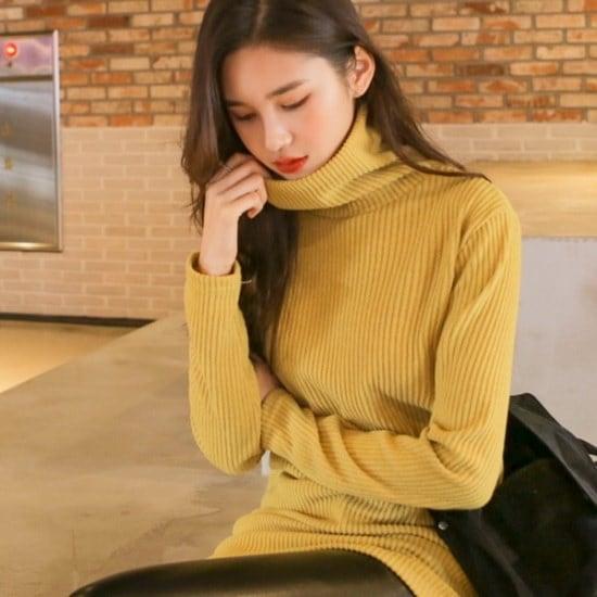 ウィドゥイプンチュロスゴルジタートルネックニット ニット/セーター/タートルネック/ポーラーニット/韓国ファッション