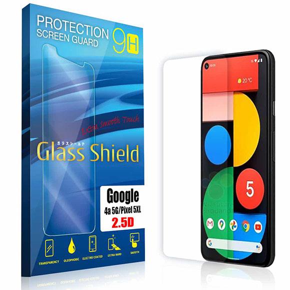 液晶保護フィルム Google Pixel4a(5G) 2.5D 9H 指紋防止(全透明) ガラスフィルム 強化ガラス ピクセル フォー ファイブジー
