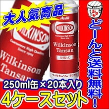 🌟クーポン使えます!80本!ウィルキンソン タンサン 送料無料ウィルキンソン 炭酸水 250ml缶(20本入り)4ケース【4ケース送料無料!】
