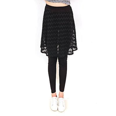 HスタイルGD波のワイヤークロスチレンスカートレギンススパッツ パンツ/レギンス/ジェギンス・パンツ/韓国ファッション