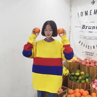 ワードプリント プルオーバー パーカーカットソー[レディース]Tシャツ・ブラウス・パーカー・トレーナー・セットアップ・リュック・バッグ・韓国ファッション2