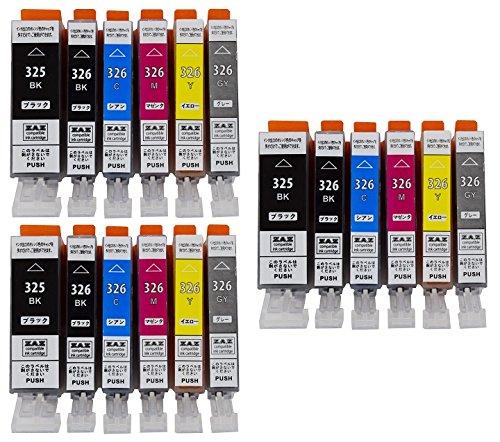 ZAZ BCI-326325/6MP 6色セット3パック 合計18個 canon 互換インク ICチップ付き 残量表示可 FFPパッケージ(O)