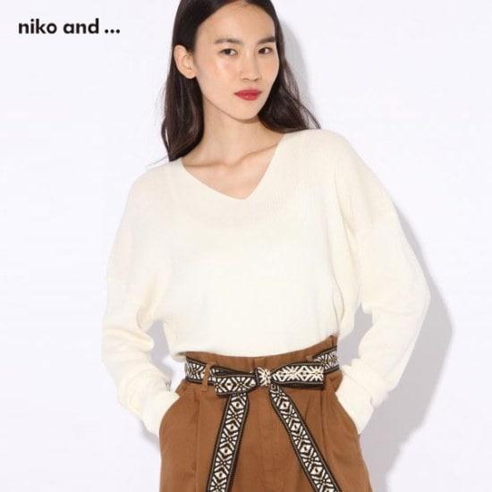ニコ・アンド・ニコ・アンド・Vネクビッグブルオーバー・ニット766633 ニット/セーター/ニット/韓国ファッション