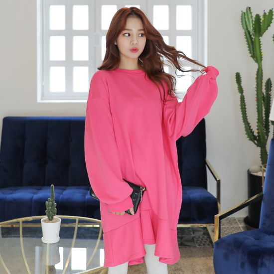 クルリクエンミマイティボリュームワンピース 綿ワンピース/ 韓国ファッション