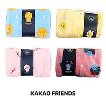 [ カカオフレンズ Kakao Friends ] リトルフレンズ パタン 膝掛けブランケット ・ひざかけ毛布 正規品 Blanket