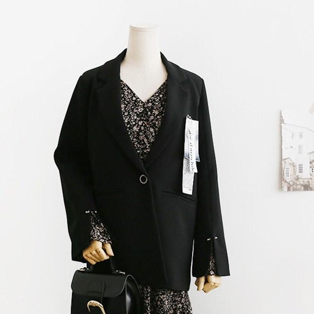 [21195]定番日ピットラベルテーラードジャケットデイリールックデイリーバックkorea women fashion style