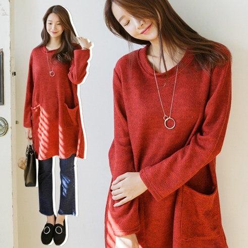メイシーズボカシロングニットOPSニットkorean fashion style