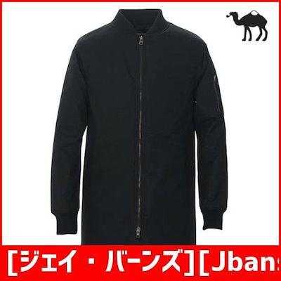 [ジェイ・バーンズ][Jbans Classic]ラミネーティンヘリンボーンMA-1ロングジャンパー(C1504-JP5 /デニムジャケット/ジャケット/韓国ファッション