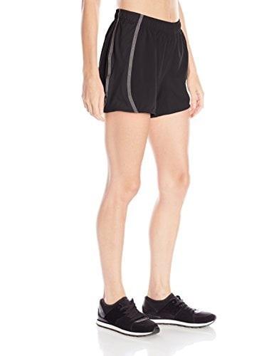 ASICS Womens Lite-Show 3-N-1 Shorts (4-Inch), Small, Black Palm