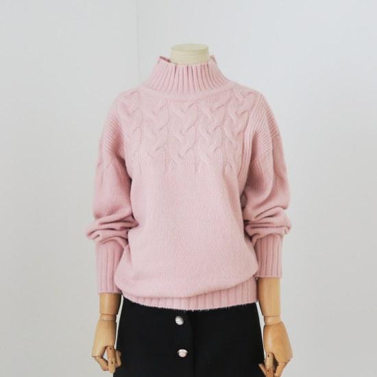 木NamuGRim木の絵だ揚げ菓子ロング分C18SHG4X027P1 ニット/セーター/パターンニット/韓国ファッション
