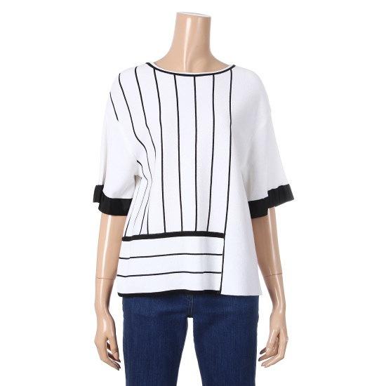 シシコレクトルーズフィット・ストライプニートC172KSK032 ニット/セーター/韓国ファッション