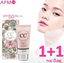 1+1【CC Cream】The cure CCクリーム SPF50 PA++ 30ml うるおってナチュラル【レターパック送料無料】うるおいベースでナチュラル美肌
