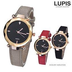 4dedb7fa87 ブラックダイヤルマットレザーベルトウォッチ・腕時計【腕時計 レディース シンプル マットカラー レザー 激安