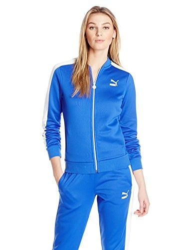 PUMA Womens No.1 Logo Track Jacket, Dazzling Blue, Large