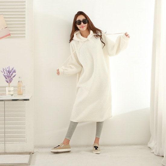 ピピンブルックスポグルフードワンピース35021 綿ワンピース/ 韓国ファッション
