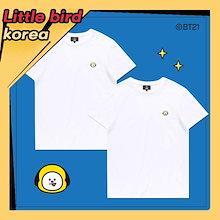 予約販売★【E-LAND HUNT x BT21】2018 新商品 BT21 公式 tシャツ 半袖 8種 / 2枚が1セット