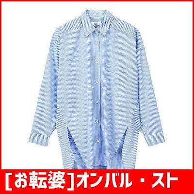 [お転婆]オンバル・ストライプロングシャツ9108321172 /チェックシャツ/ブラウス/韓国ファッション
