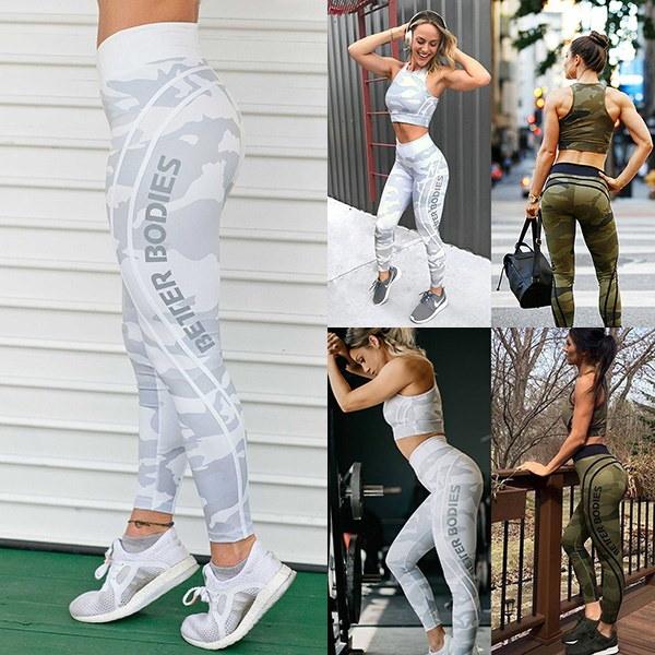 ロングパンツのヨガパンツを印刷するファッション女性Higtウエストスウェットパンツスポーツウェアレギンス