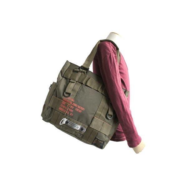 フライングボディパラシュートミリタリートートバッグ BH066YN オリーブ