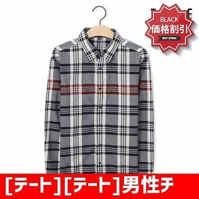 [テート][テート]男性チェックの長袖シャツKA5F8MRC120410 /ソリッドシャツ/ブラウス/シャツ/韓国ファッション/
