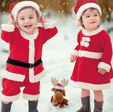 ★即納!★【毎年クリスマスに大人気のキベビーサンタクロース】サンタ コスプレ サンタクロース コスチューム 衣装 キッズ こども用 赤ちゃん 子供用 クリスマス パーティー 80cm~140cm