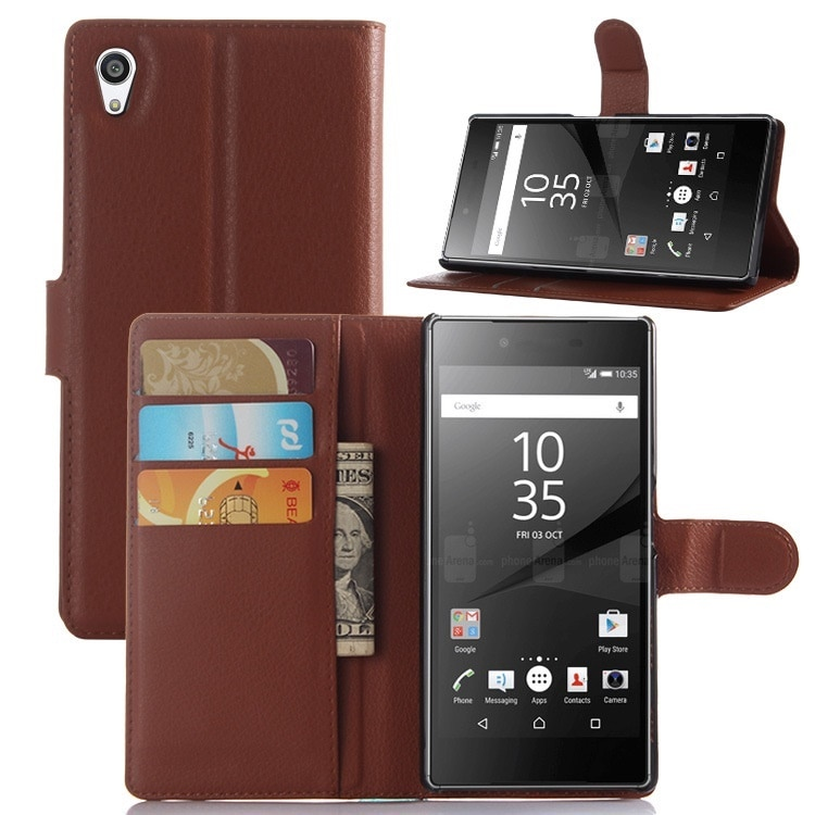 Sony Xperia Z5 SO-01H/SOV32用手帳型レザーケース/財布型保護カバー/ポケット付き/マグネット横開き/スタンドカバー/2つ折り【A620】