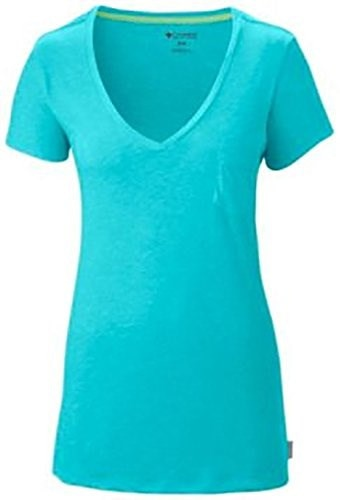 Columbia Womens Everyday V-Neck T-Shirt M BLUE