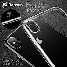 00784e0229 iPhoneX ケース カバー 耐衝撃 防塵 クリスタル クリア シンプル 透明 iPhone TPU アイフォン