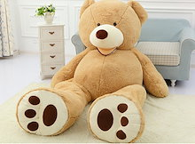 ぬいぐるみ 特大 くま/テディベア 可愛い熊大きいクマ抱き枕/ふわふわぬいぐるみ 260cm 3~6営業日でお手元に届く予定