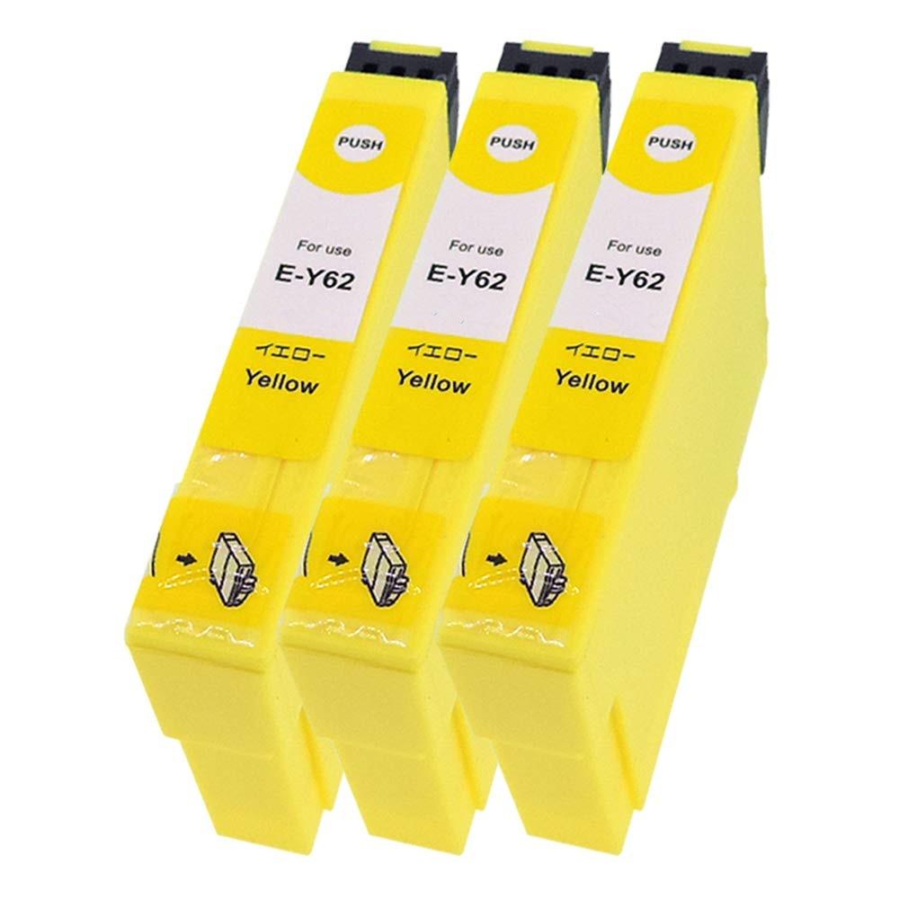 ICY62 3本セット エプソンプリンター用互換インク EP社 ICチップ付 残量表示機能付